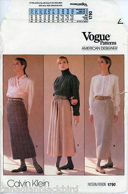Vogue American Designer-muster (Vogue American Designer *Calvin Klein* Schnittmuster 1790 Röcke  US 12 (38))