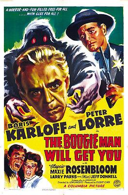 The Boogie Man Will Get You (1942) Boris Karloff Horror movie poster print 2](Boogie Man Movie)