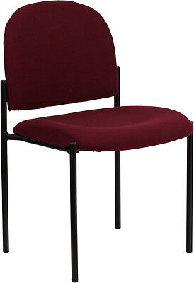 BURGUNDY FABRIC STACK OFFICE GUEST CHAIR