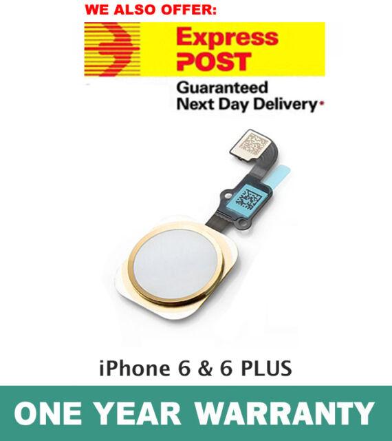 iPhone 6 & 6 PLUS Home Button Flex Cable Finger Fingerprint Scanner Sensor GOLD