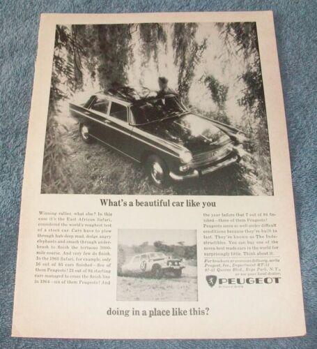 "1966 Peugeot 404 Vintage Ad ""What"