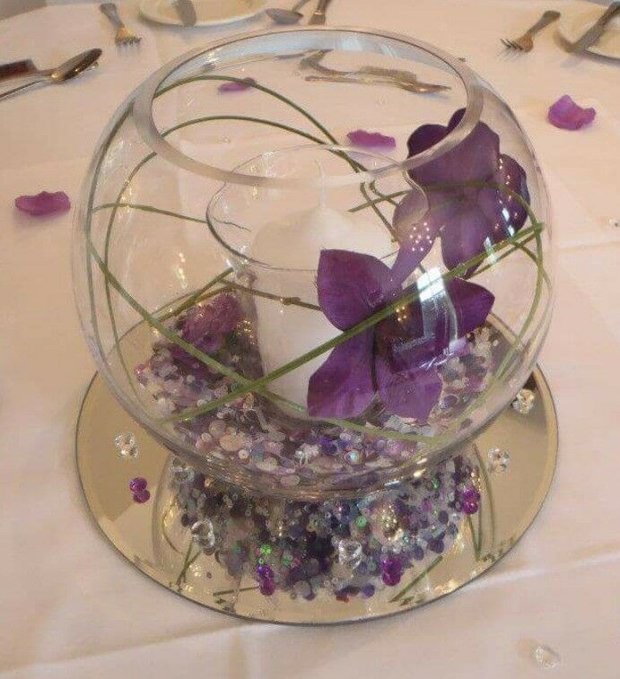 Mirror Table Decorations: Wedding Centrepieces Table Decorations Glass Bowls