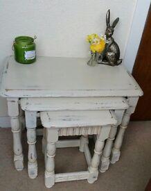 A set of Solid Oak Tables
