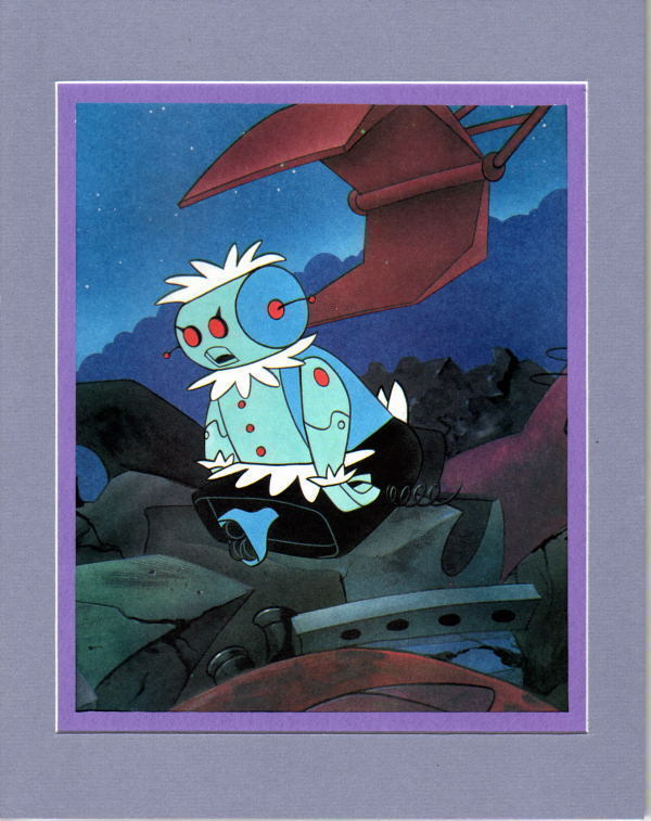 Jetsons - ROSIE SCRAPPED?? Professionally Matted PRINT