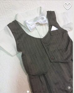 Grey baby suit / special occasion romper