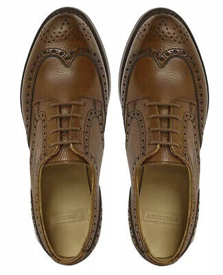 James Purdey & Sons Leather Brogues Ladies 4.5 Tan Brown Net-a-Porter Shoes Flat