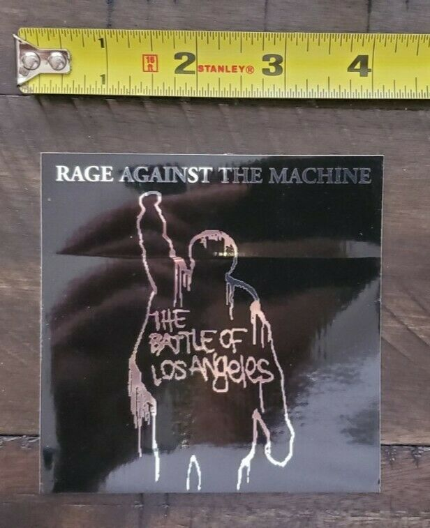 RAGE AGAINST THE MACHINE ORIGINAL 1999 STICKER BATTLE FOR LOS ANGELES KORN