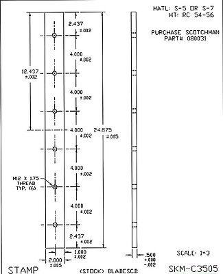 24-78 Long Scotchman Ironworker Flat Shear Blades