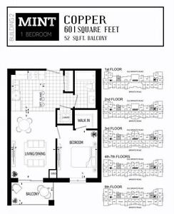 1 Bed 1 Bath MINT Condo For Sale - Move in August 2017