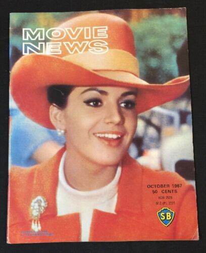 1967 Oct Singapore Shaw Brothers Movie News magazine Catherine Spaak on cover