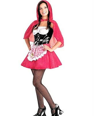 SEXY LITTLE RED RIDING HOOD FAIRY TALE WOMEN teen JUNIOR SZ 7-8,9 COSTUME](Red Riding Hood Costume Teenager)