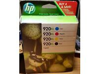 HP ink cartridges. 4 pack Black, yellow, magenta and cyan