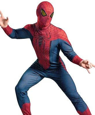 Deluxe The Amazing Spider-man Adult Spiderman Costume - XL 42-46, Plus XXL 50-52