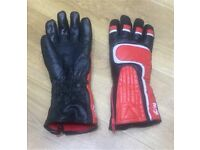 Leather bike gloves small
