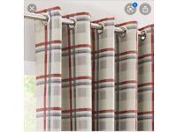 Curtains-rust-luna plaid
