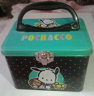 Vintage (1995)POCHACCO Tin Metal Box SANRIO Hello Kitty RARE