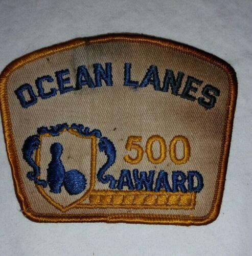 Vintage Ocean Lanes 500 Award Bowling Patch