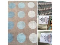 Next teal rug and 2 X pairs of matching curtains