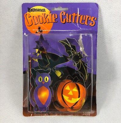 lloween Cookie Cutters - 4 pack witch bat pumpkin owl CK29 (Cookie Run Halloween)