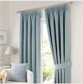 Large light blue Curtains