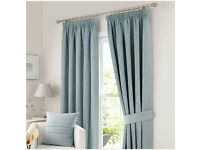 Large light blue Curtains