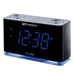 SmartSet Alarm Clock Radio w/Bluetooth Speaker,USB Charger for iPhone, Android
