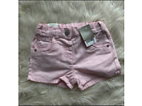 Brand new pink shorts 2-3 years old NEXT
