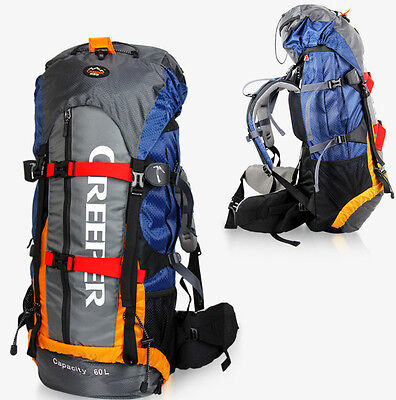 Waterproof 65L Outdoor Backpack Rucksack Camping Travel Bag Internal Frame Pack