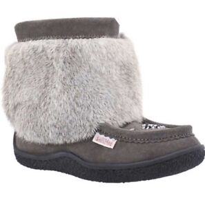 SoftMoc Grey Moccasin Boots