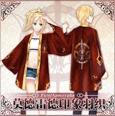 Fate/Apocrypha Mordred Japanese Anime Kimono Loose Haori Bathrobe Coat Jacket