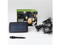 S14 48ft Solar Festoon Lights Outdoor