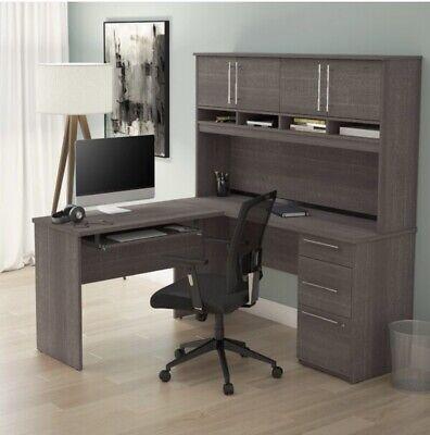 Altha Plus L-shaped Computer Desk With Hutch