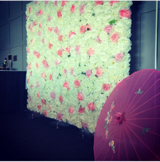 """Marina"" flower wall for hire"