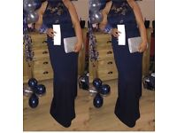 navy blue women formal dress