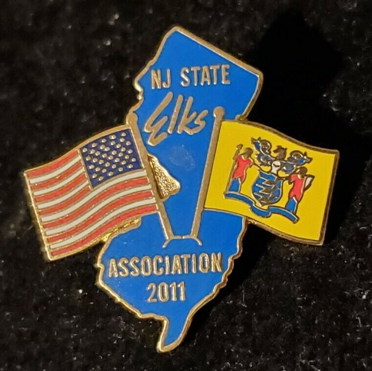 2011 New Jersey Elks State Pin. our # x1228