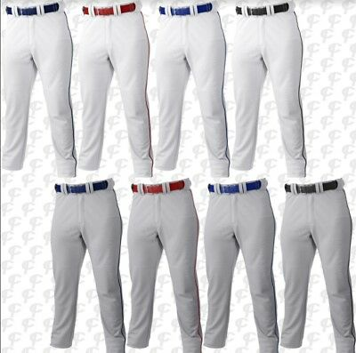 Russell Youth Boys Gray or White w/pipe Baseball Pants S233L2BK  **REG $28.00**  - White Teen Boys