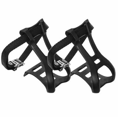 Mks Toe Clips Rd Stl Cp W//Leather Xl
