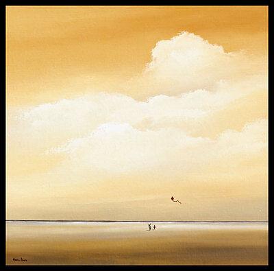 Hans Paus Flying high Poster Bild Kunstdruck mit Alu Rahmen in schwarz 50x50cm