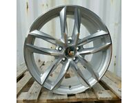 "NEW 18"" AUDI RS6 ALLOY WHEELS X4 BOXED 5X112 A3 A4 A6 TT VW GOLF CADDY"