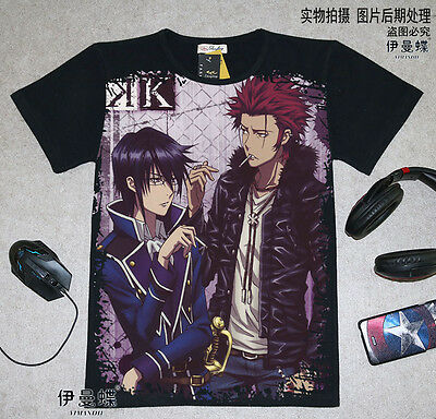 Cosplay K-project Anime Manga T-Shirt shirt Kostüme Schwarz - K Project Cosplay Kostüm
