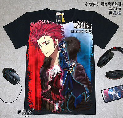 Cosplay K-project Anime Manga T-Shirt Kostüme Schwarz Polyester - K Project Cosplay Kostüm