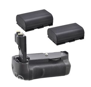 Battery Grip for Canon EOS 7D + 2X LP-E6 Batteries