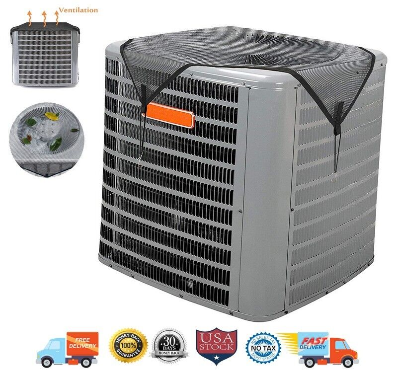 AC Cover Summer Top Air Conditioner Leaf Guard Open Mesh For