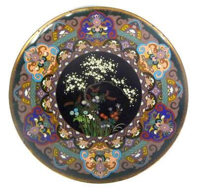 Two Rare Large Plate Japan Meiji Cloisonne Enamel
