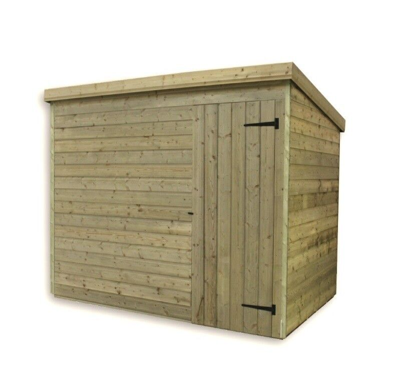 Garden Sheds 6x7: WOODEN GARDEN SHED 6X3 PENT SHED PRESSURE TREATED TONGUE
