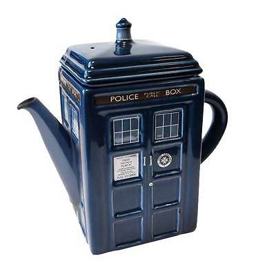 DOCTOR WHO TARDIS TEA POT ceramic teapot dr NEW IN BOX