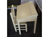 Children's wooden desk and chair