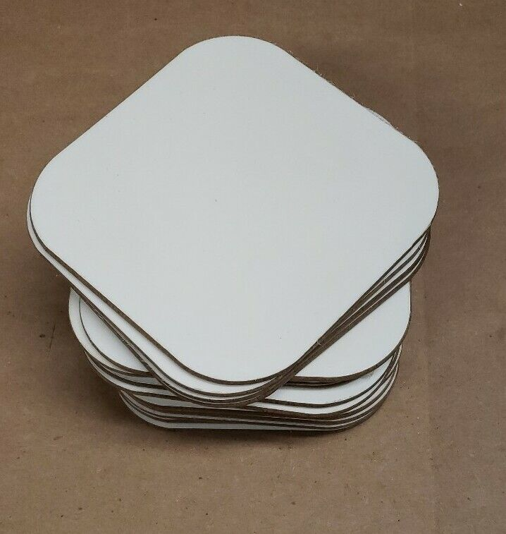 Lot Of 20 Blank Sublimation High Gloss Coasters 1 side