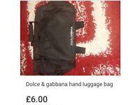 Dolce and gabanna hand luggage bag