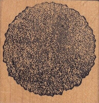 """stone disk raindrops on roses Wood Mounted Rubber Stamp  2 1/2 x 2 1/2"""""""